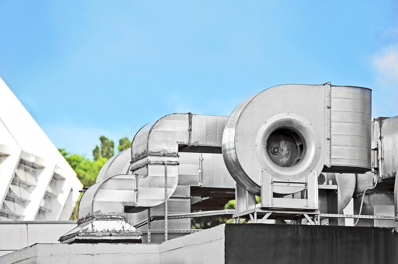 Industrial Ventilation Systems : Industrial ventilation system stock image of