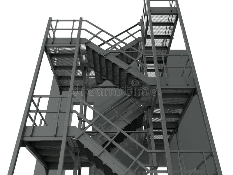 Download Industrial Warehouse Stairs Stock Illustration   Illustration Of  Industry, Materials: 70714235