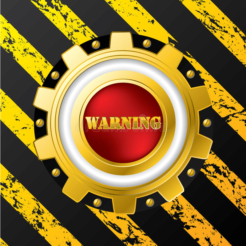 Industrial warning button design royalty free illustration