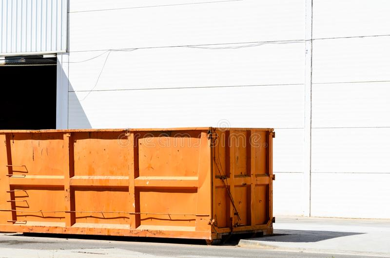 Industrial Waste Bin. For municipal waste or industrial waste stock photography