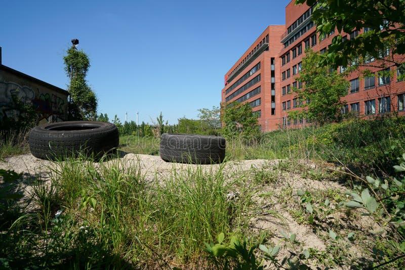 Industrial wasteland stock photos