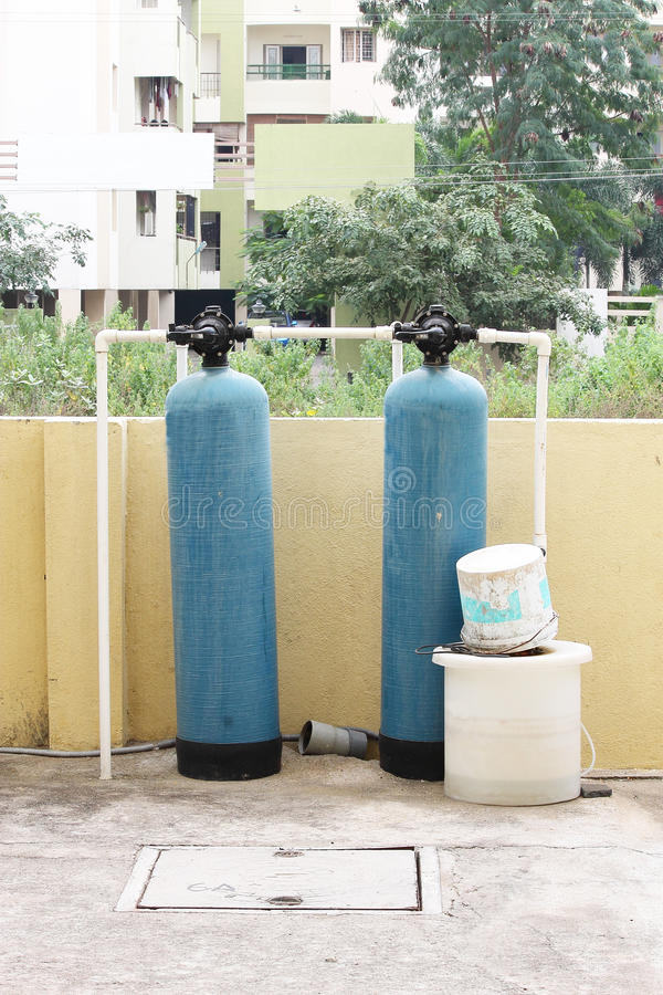 Industrial water filter purifier royalty free stock photo