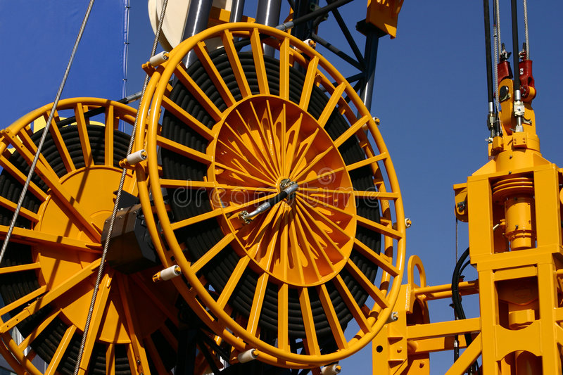 Download Industrial wheels stock image. Image of large, yellow - 2485413