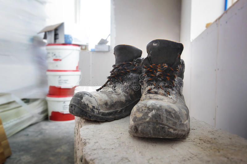 Industrial Work Boots royalty free stock photography
