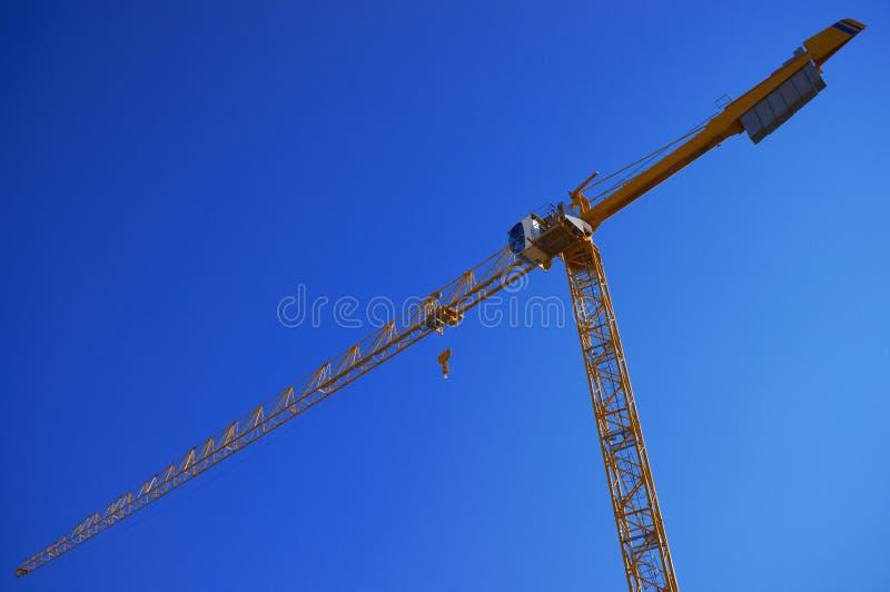 Industrial yellow crane stock photo