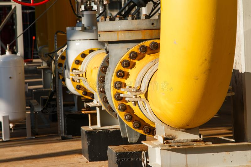 The equipment of oil refining stock images