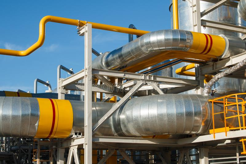 The equipment of oil refining royalty free stock images