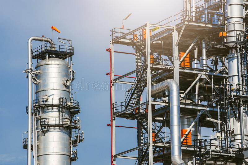 Industrial zone,oil refinery,oil pipeline royalty free stock photos