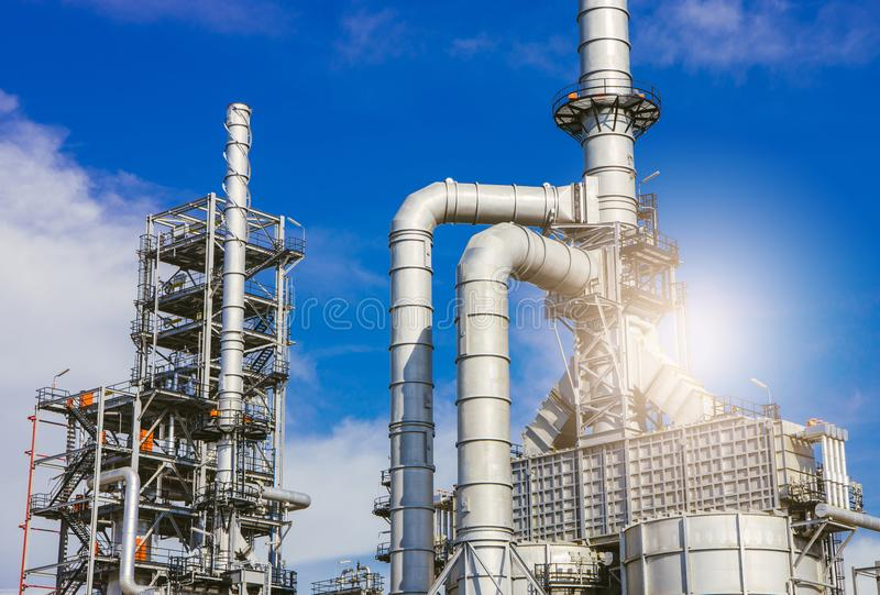 Industrial zone,oil refinery,oil pipeline royalty free stock photography