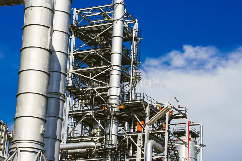 Industrial zone,oil refinery,oil pipeline stock images
