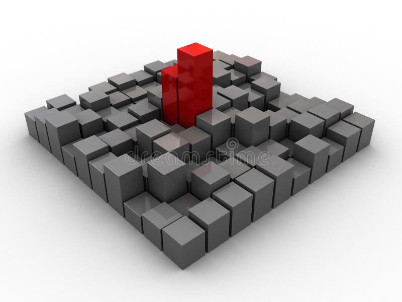 Download Industriale astratto illustrazione di stock. Illustrazione di rosso - 7309793