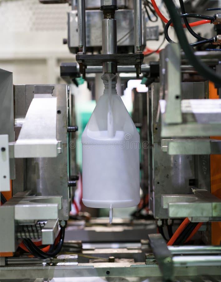 Industriale di plastica a alta tecnologia di fabbricazione della bottiglia fotografia stock libera da diritti
