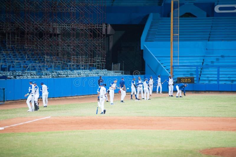 Industriales Baseball Team Cuba Havana stock photo