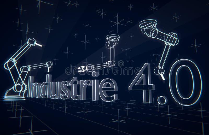 Industrie 4 stock abbildung