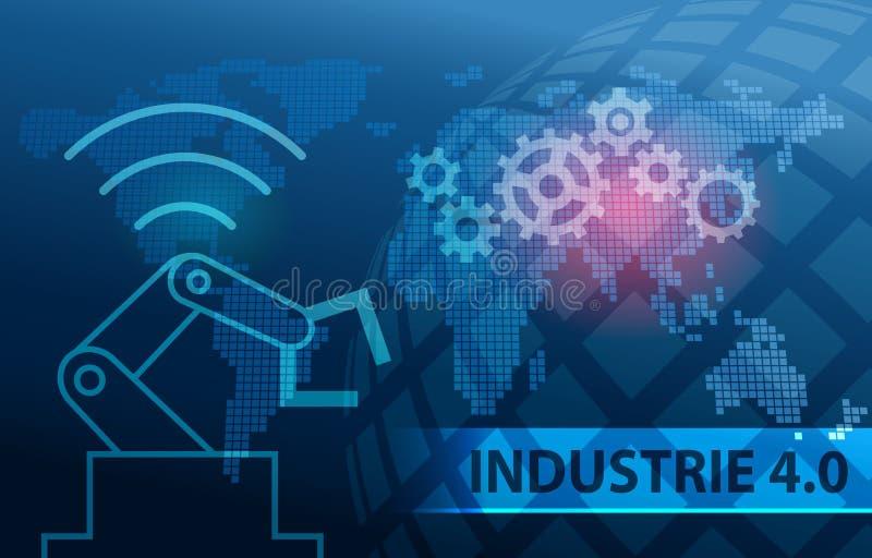 Industrie 4 0 Automatisierungs-Hintergrund stock abbildung