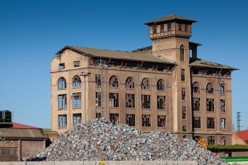 Industrie in Bilbao stockbilder