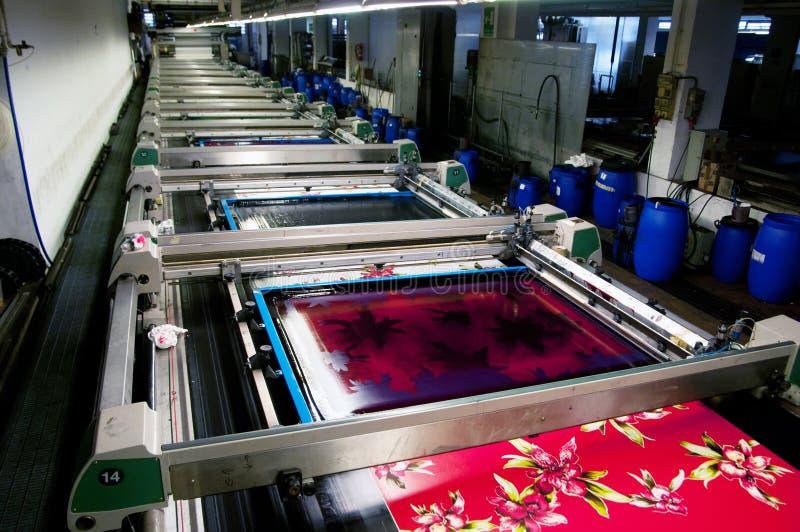 Industrie : centrale pour l'impression de tissus images libres de droits