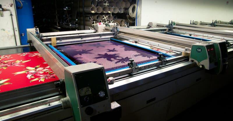 Industrie : centrale pour l'impression de tissus photographie stock