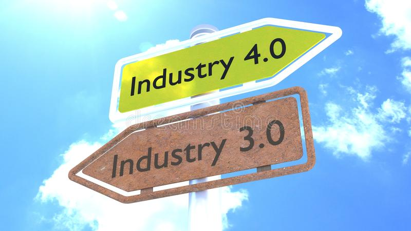 Industrie 4 0 concepts d'avenir de signe illustration stock