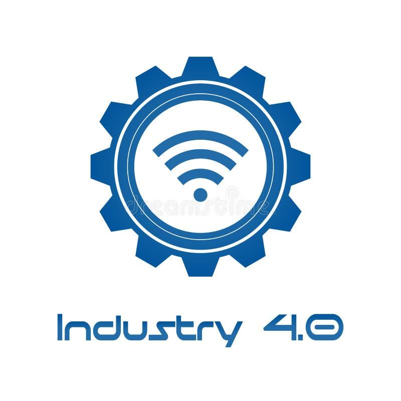 Industrie 4 0 dans la vitesse spirale avec la radio Concept de production d'affaires et d'automation Contr?le d'examen m?dical et illustration stock