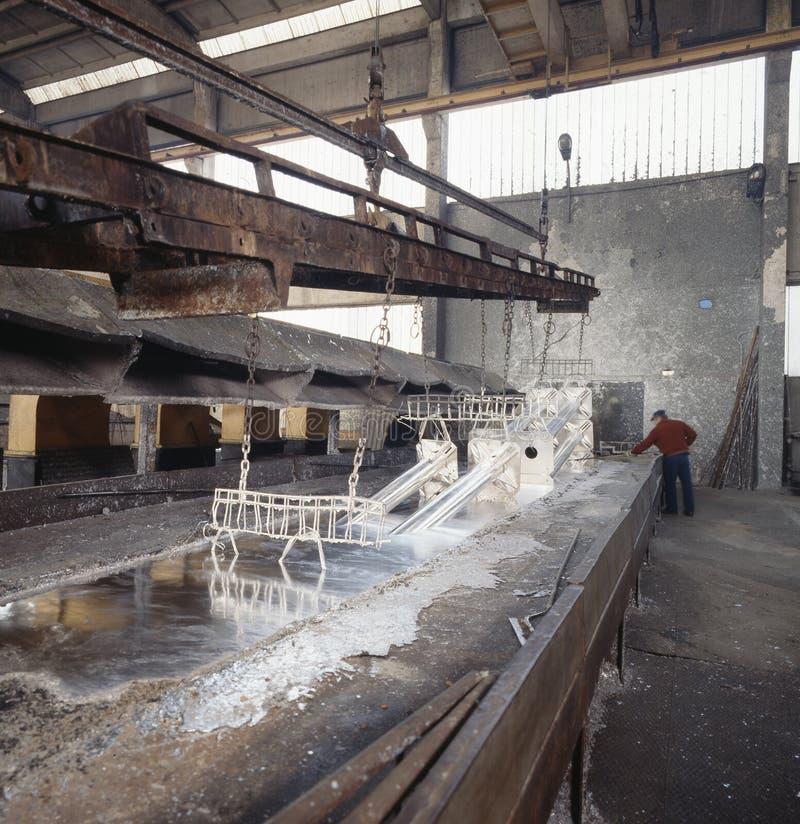 Industrie de galvanisation photographie stock