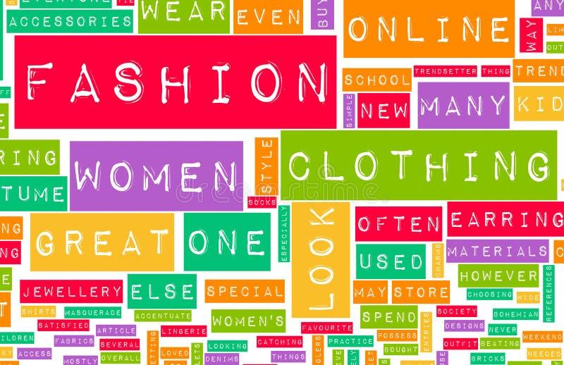 Industrie de la mode illustration libre de droits