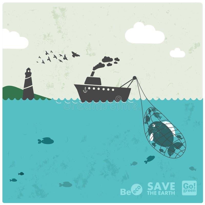 Industrie de la pêche illustration libre de droits
