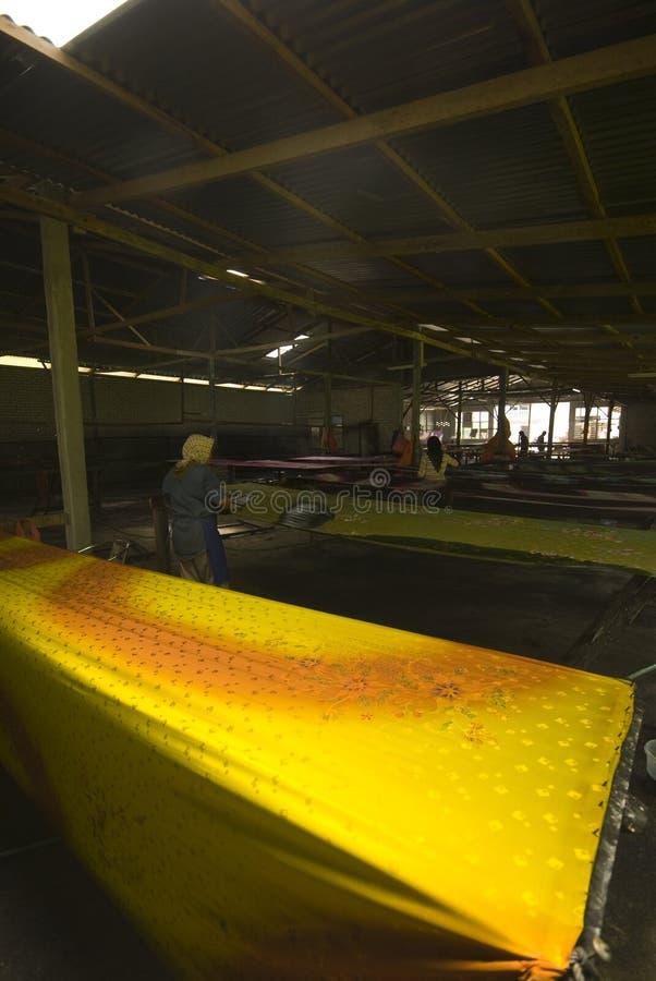 Industrie de la peinture de batik photographie stock libre de droits
