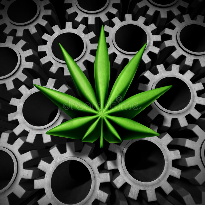 Industrie de marijuana illustration libre de droits