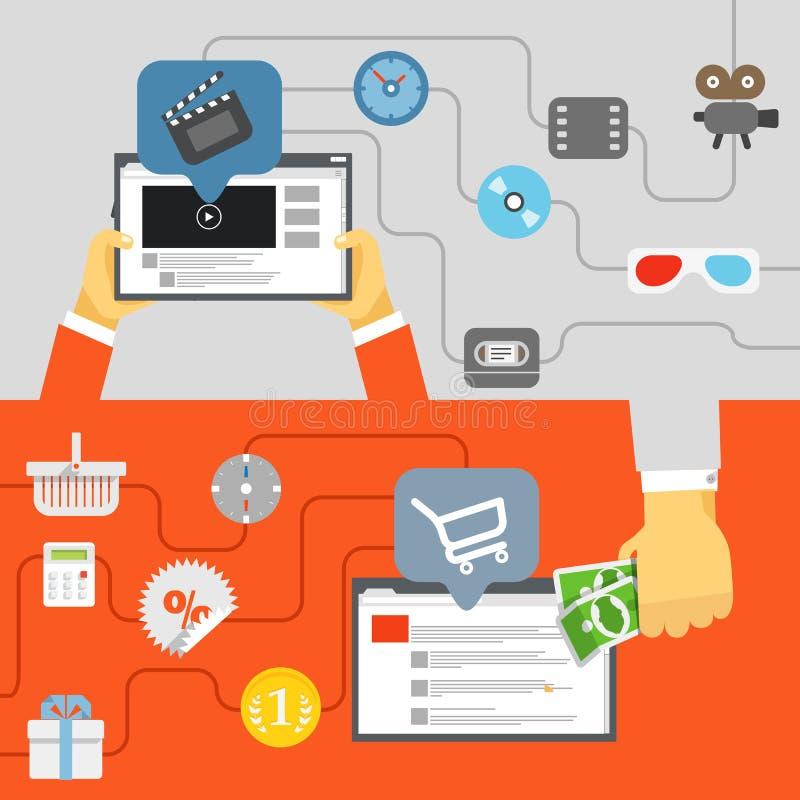 Industrie de media de Digital illustration libre de droits