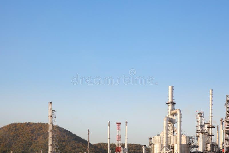 Industrie de raffinerie de pétrole pour le fond d'usine images stock