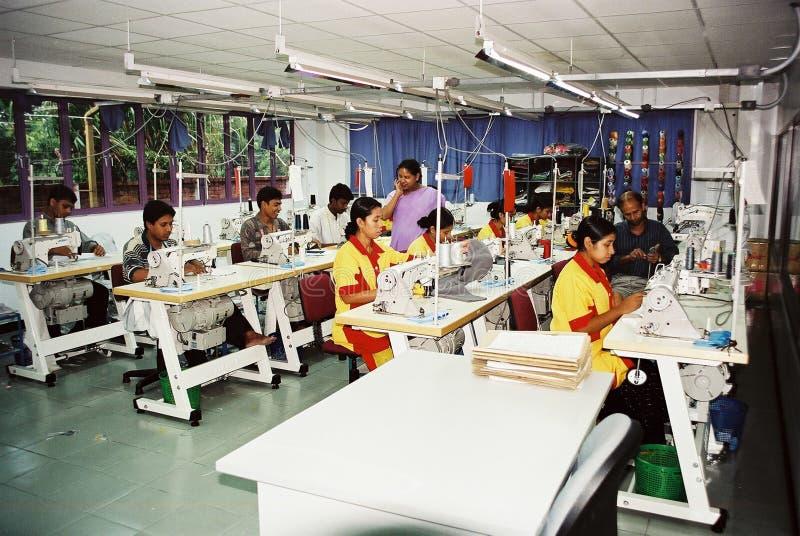 Industrie de vêtements au Bangladesh images libres de droits