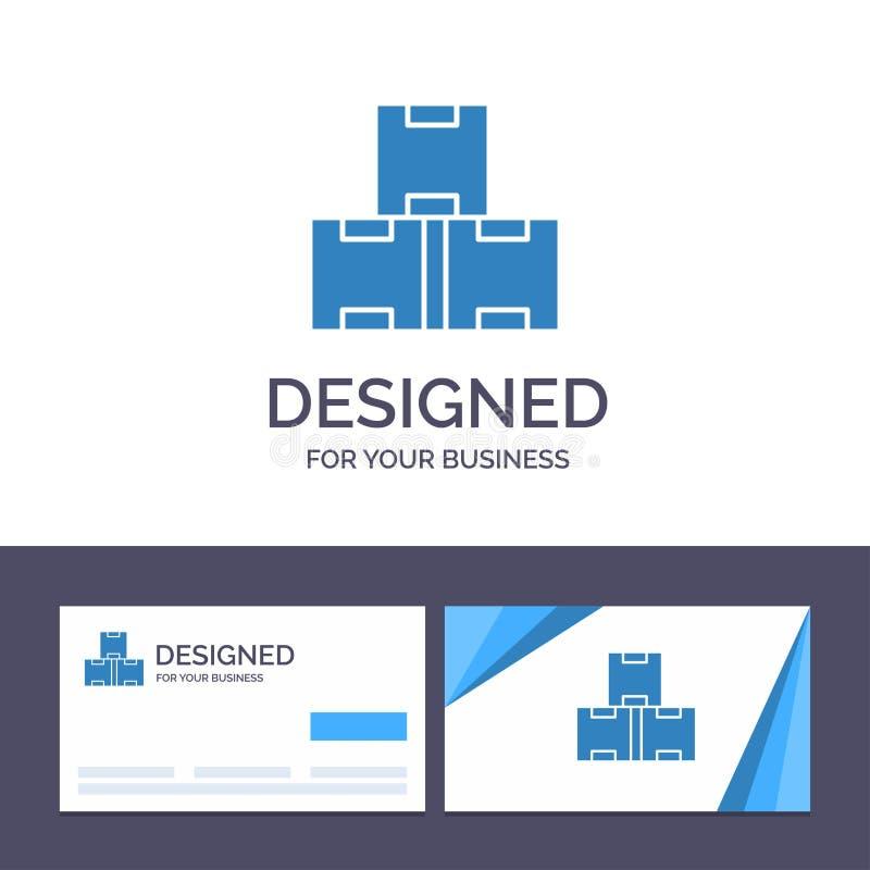 Industrie de visite de calibre créatif de carte de visite professionnelle et de logo, actions d'industrie, production, illustrati illustration de vecteur
