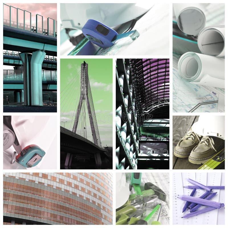 Industrie du bâtiment - collage image stock