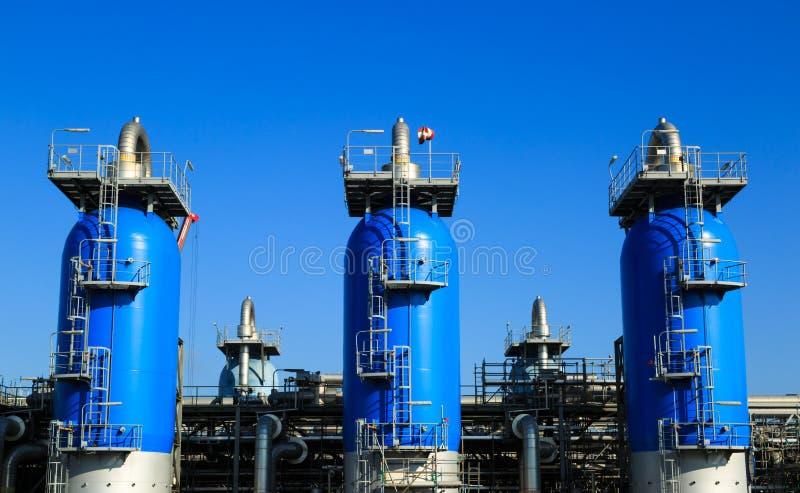 Industrie du gaz image libre de droits