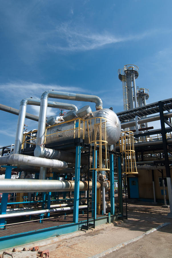Industrie du gaz. amélioration de soufre photos libres de droits