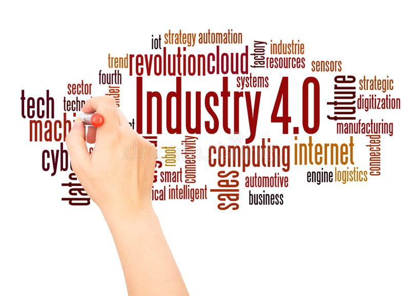 Industrie 4 E lizenzfreie abbildung