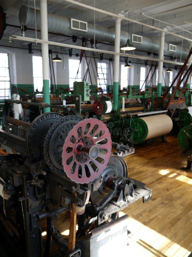 Industrie: historische katoenen molenmachines royalty-vrije stock foto