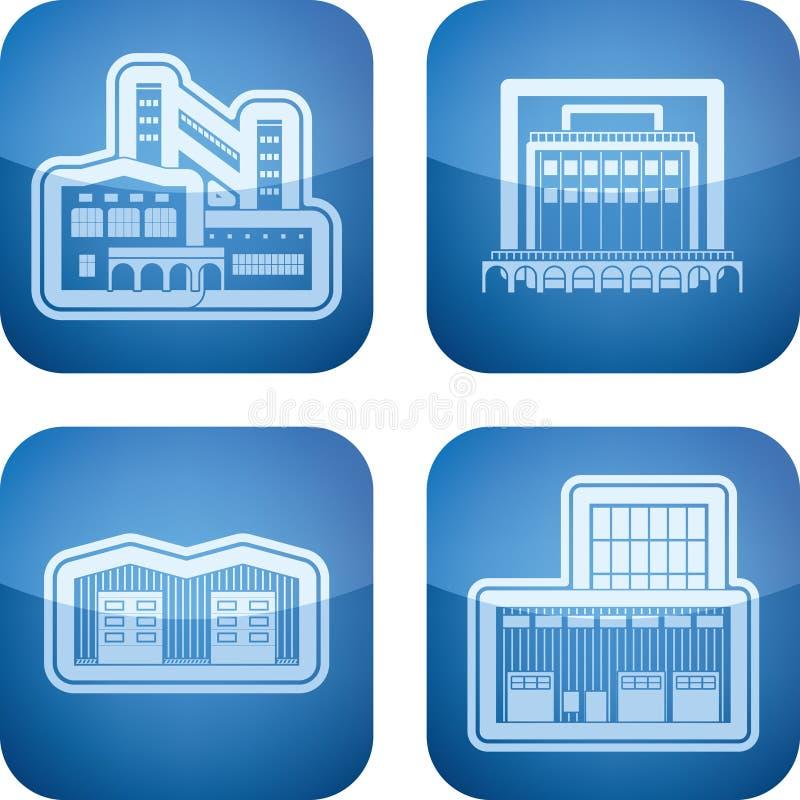 Industrie-Ikonen: Fabrik lizenzfreie abbildung