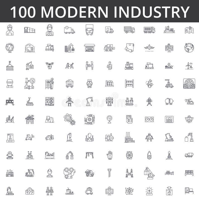 Industrie, logistique, usine, entrepôt, usine, ingénierie, construction, distribution, fabrication, industriel lourd illustration libre de droits