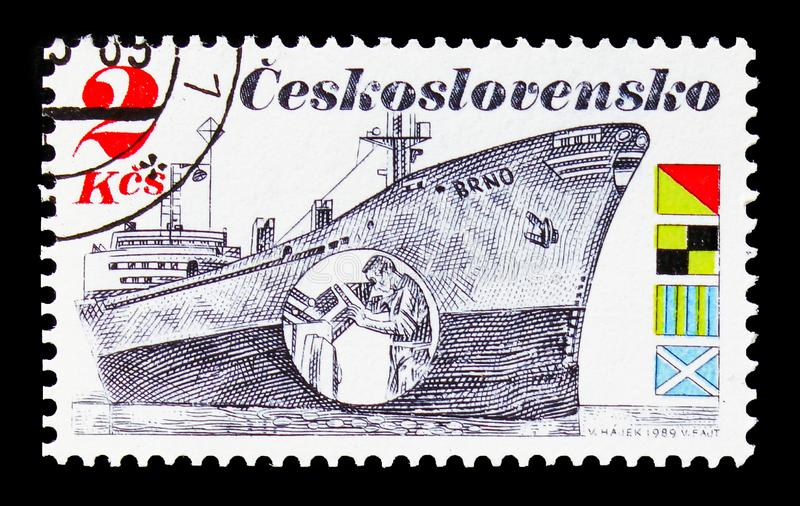 Industrie maritime - Brno, serie maritime tchèque d'expédition, photo libre de droits