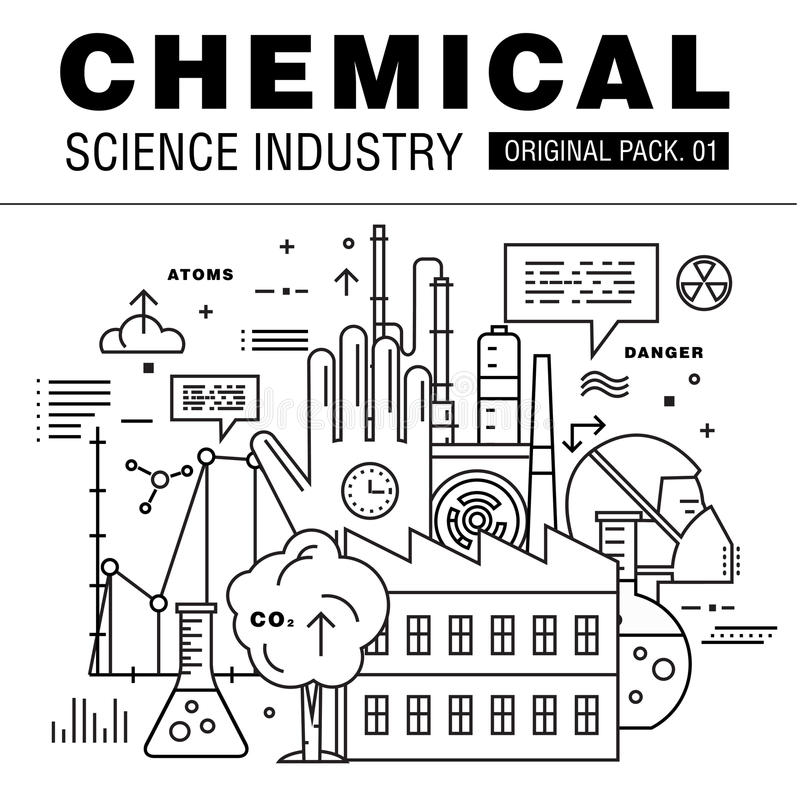 Industrie moderne de la science chimique images libres de droits