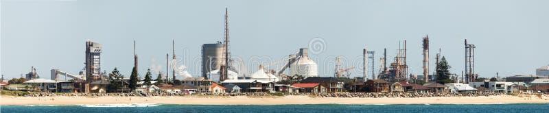 Industrie in Newcastle Australien lizenzfreies stockbild