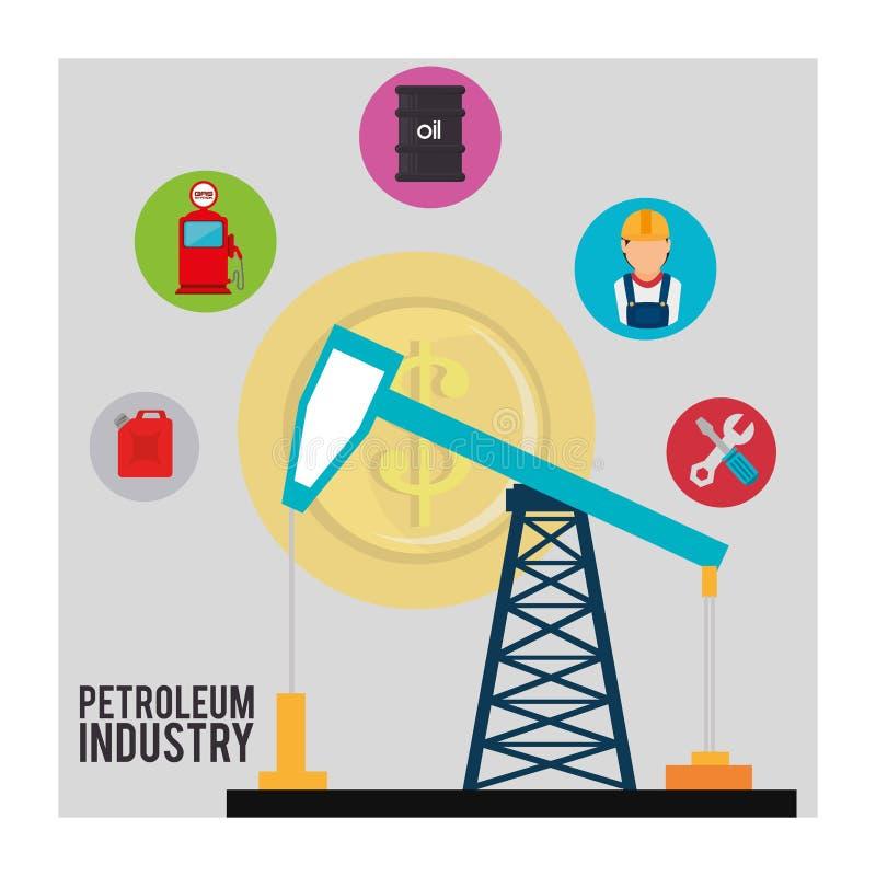 Industrie pétrolière illustration stock
