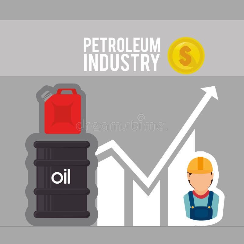 Industrie pétrolière illustration de vecteur