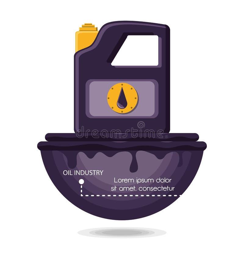 Industrie pétrolière avec le gallon illustration libre de droits