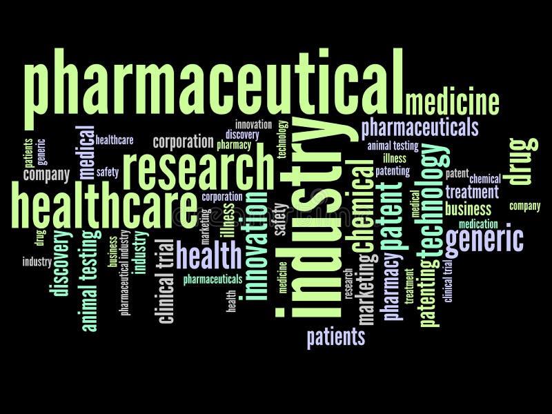 Industrie pharmaceutique illustration de vecteur