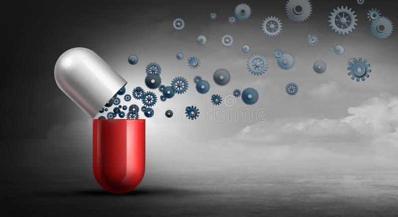 Industrie pharmaceutique de pharmacie illustration libre de droits