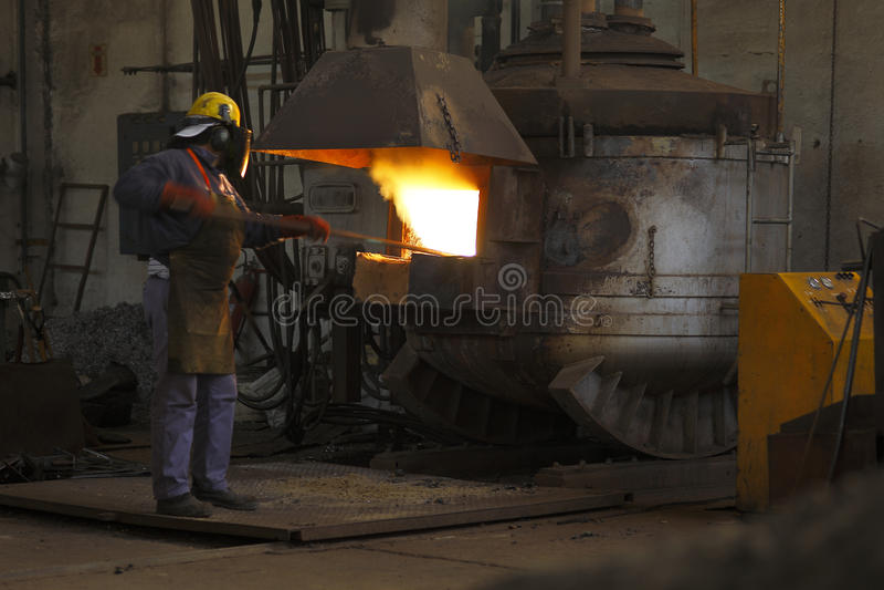 Industrie sidérurgique photographie stock