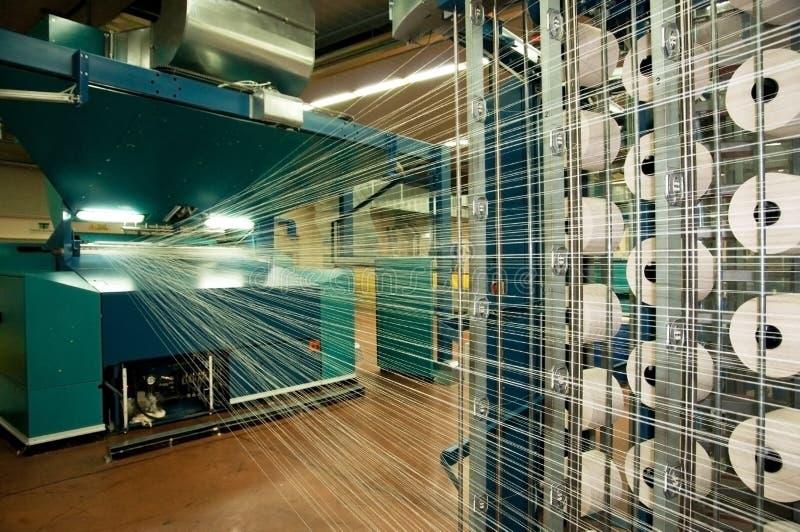 Industrie textile (denim) - tissant photos stock